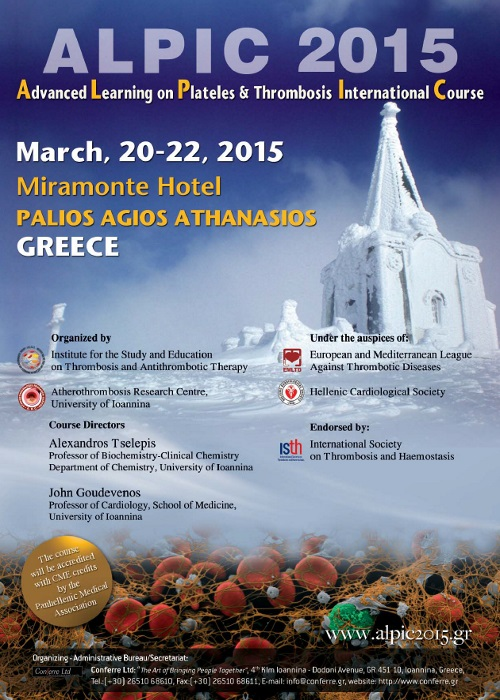 ALPIC 2015- Advanced Learning on Platelets & Thrombosis International Course