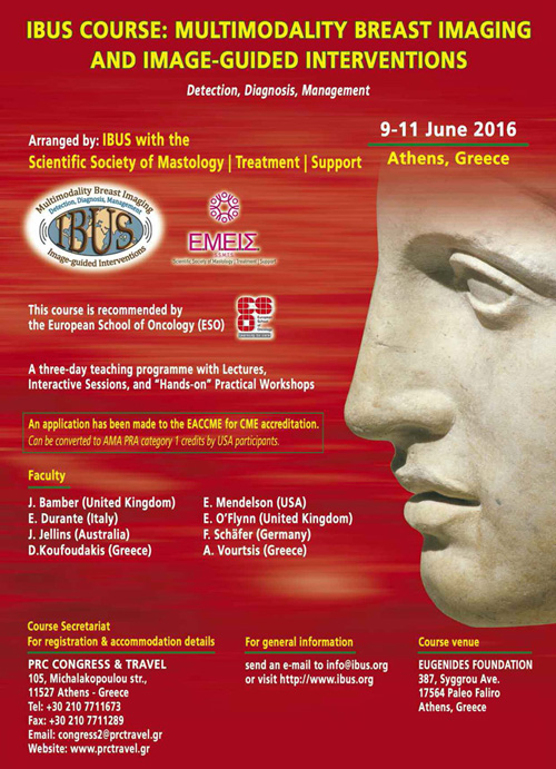 IBUS,  Multimodality Breast Imaging and Image-guided Interventions Course 2016