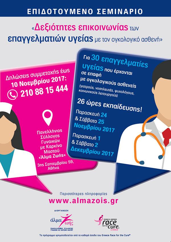 Δεξιότητες επικοινωνίας των επαγγελματιών υγείας με τον ογκολογικό ασθενή